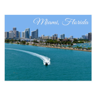 Postal de Miami Beach la Florida de la bahía de