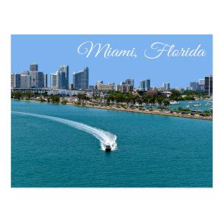 Postal de Miami Beach la Florida de la bahía de Bi