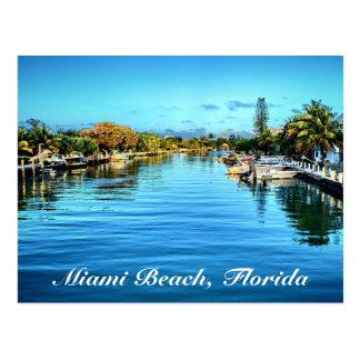 Postal de Miami Beach la Florida