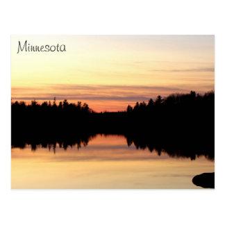 Postal de Minnesota - lago poplar