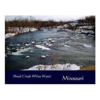 Postal de Missouri del agua de blanco puro