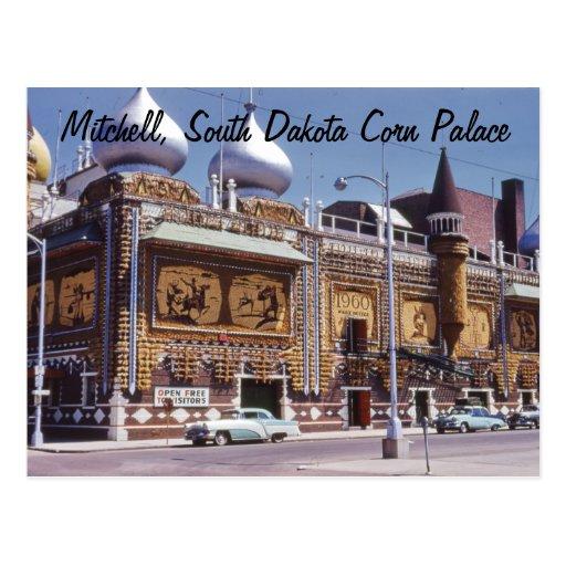 Postal de Mitchell Dakota del Sur del palacio del