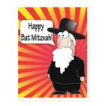 Postal de Mitzvah del palo - postal judía del rabi
