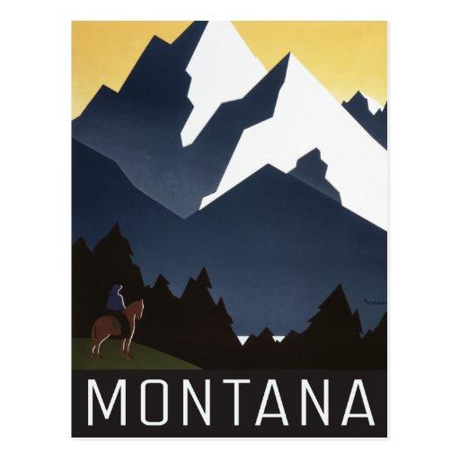 Postal de Montana del vintage