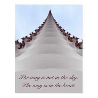 Postal de motivación de la cita de Buda del árbol