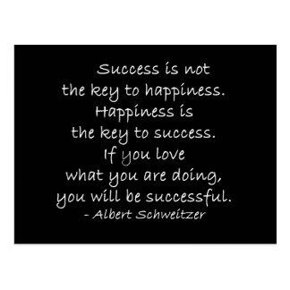 Postal de motivación de la cita de la felicidad