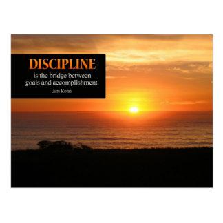 Postal de motivación de la disciplina