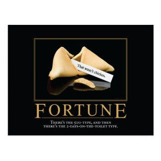Postal de motivación de la parodia de la fortuna
