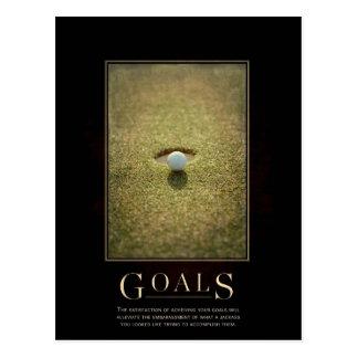 Postal de motivación de la parodia de las metas