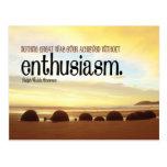 Postal de motivación del entusiasmo