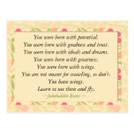 Postal de motivación inspirada de la cita de Rumi