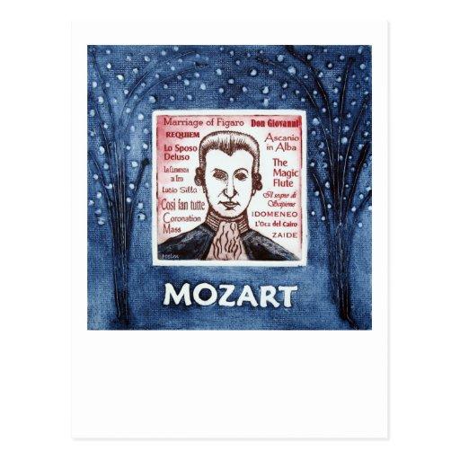 Postal de Mozart
