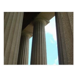 Postal de Nashville TN de las columnas del Parthen