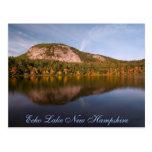 Postal de New Hampshire del lago    echo