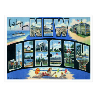 Postal de New Jersey del vintage