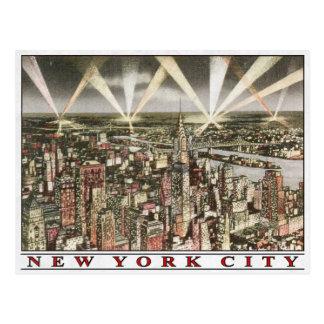 Postal de New York City con la impresión del vinta
