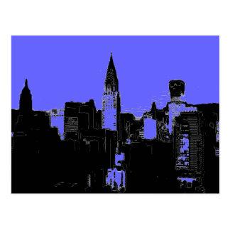 Postal de New York City del arte pop