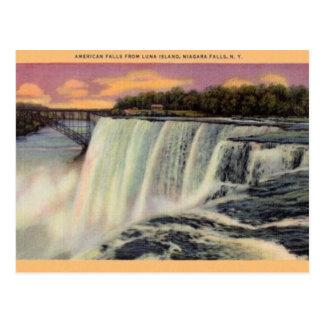 Postal de Niagara Falls del vintage