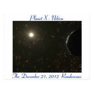 Postal de Nibiru - Sun, tierra y Nibiru (planeta X