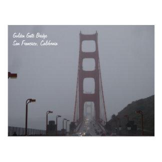Postal de niebla de puente Golden Gate