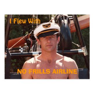 "Postal de ""ninguna línea aérea de los volantes"""