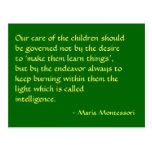 Postal de no. 1 de la cita de Maria Montessori