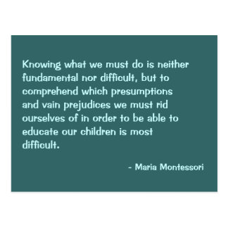 Postal de no 2 de la cita de Maria Montessori