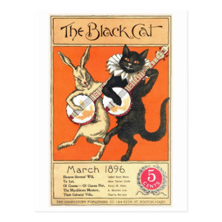 Postal de no. 2 del gato negro