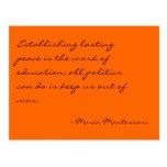 Postal de no. 3 de la cita de Maria Montessori