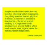 Postal de no. 4 de la cita de Maria Montessori