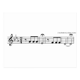 Postal de no 5 de la sinfonía de Beethoven