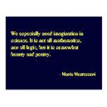 Postal de no. 7 de la cita de Maria Montessori