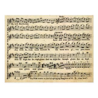 Postal de no. 9 de la sinfonía de Beethoven