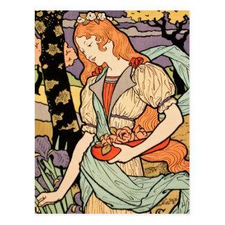 Postal de Nouveau del arte: por Grasset