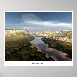 Postal de nueva Escocia Posters
