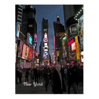 Postal de Nueva York del Times Square