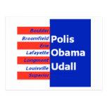 Postal de Obama Udall Boulder