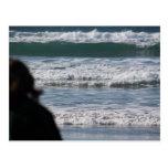 POSTAL de observación de las ondas