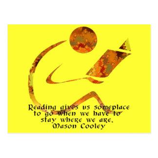 Postal de oro de la cita del lector