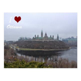 Postal de Ottawa del luv I de la colina del parlam