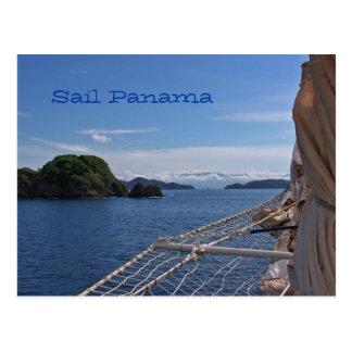 Postal de Panamá de la navegación