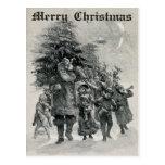 Postal de Papá Noel