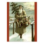 Postal de Papá Noel del sueco de la imagen del vin