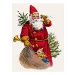 Postal de Papá Noel del vintage