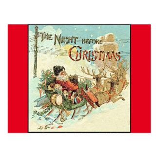 Postal de Papá Noel del vintage del navidad del