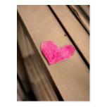 Postal de papel de la fotografía del corazón