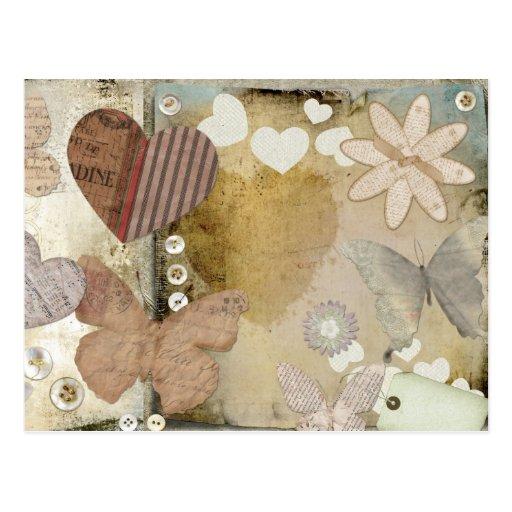 Postal de papel del amor