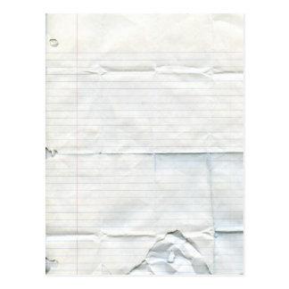 Postal de papel del cuaderno