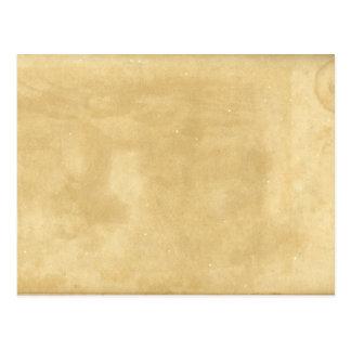 Postal de papel envejecida vintage en blanco