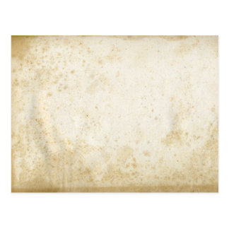 Postal de papel manchada antigüedad en blanco